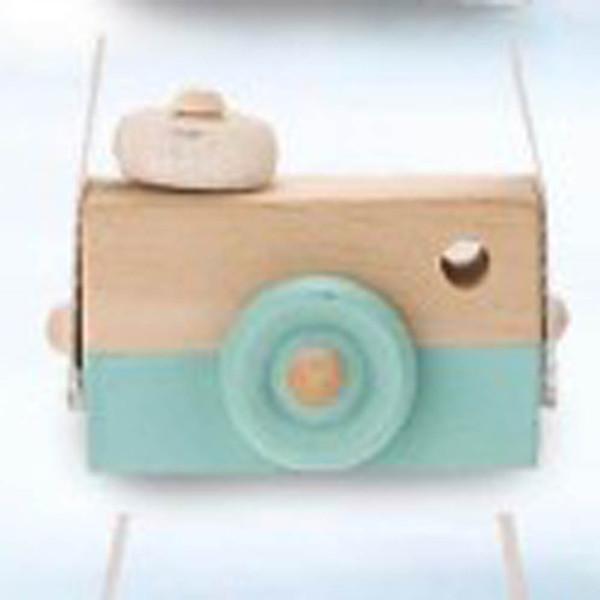L'appareil-photo en bois mignon de bébé d'enfants joue des jouets sûrs et naturels d'accessoire d'habillement de mode d'enfants