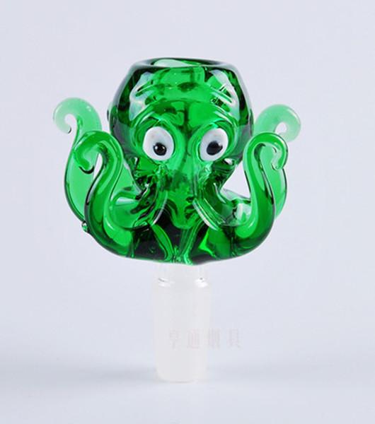 Nouveau Design Verre D'eau En Verre bong octopus tuyaux en verre 14mm 18mm tuyaux de fumage de verre 14 mm 18mm mâle bol Narguilé Fumeurs Accessoires