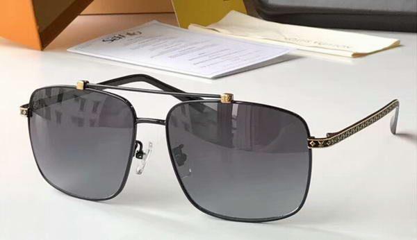 Square attitude Pilot sunglasses black/grey shades z0923 mens Sonnenbrille luxury brand designer sunglasses Gafas de sol New with box