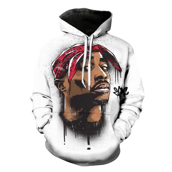 Новая Мода 2pac Tupac Nake Толстовка С Капюшоном Мужчины Женщины С Длинным Рукавом Верхняя Одежда Пуловеры 3D Толстовки LMS001
