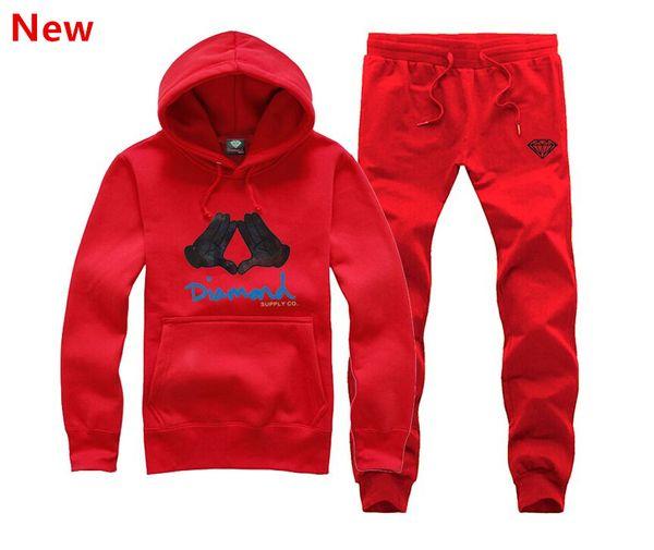 New Diamond Supply sweat suit Autumn sportswear sport men clothes track suits tracksuits male sweatshirts +Pants Plus Size 3XL H19