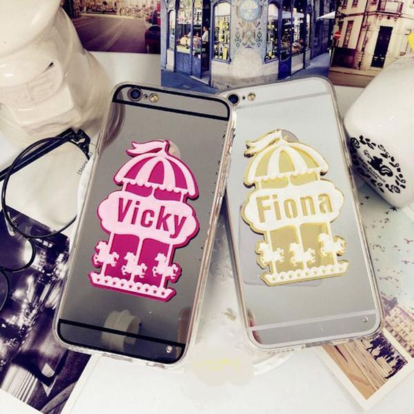 Unique Custom name letter merry-go-round mirror mobile phone case cover For LG G4 G5 G6 V10 V20 V30 G7