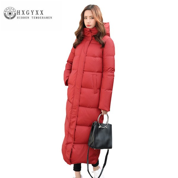 2019 White duck down Women Winter Down jacket high quality Fashion Thick Warm Big yards Female Parka New Hooded Slim Long Coat ZX0223