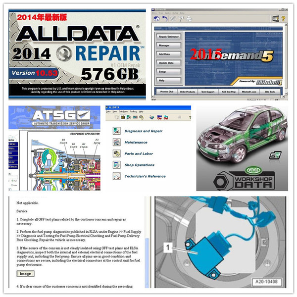newest alldata 10.53 +mitchell dem//and +vivid workshop+ heavy truck +atsg all data auto repair hdd 1tb usb3.0