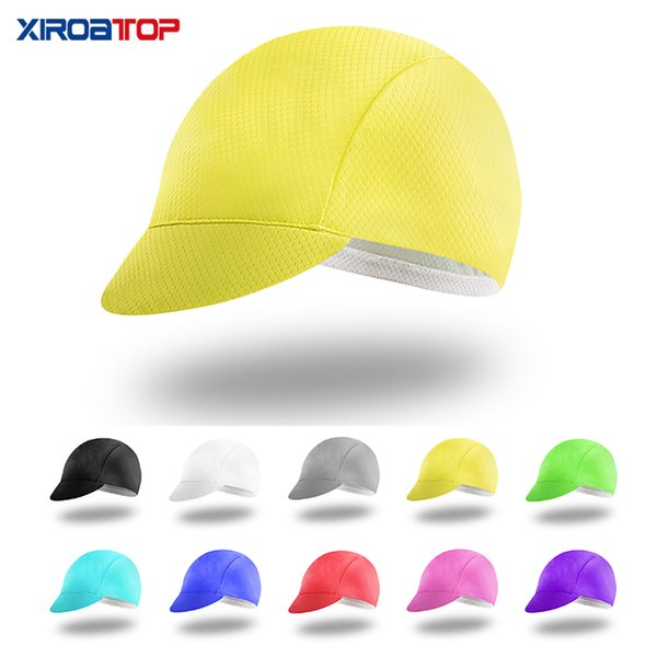 HOT Quality Cycling Caps Team Uomo Donna Ciclismo Head wear Cappello UV Sun MTB Bike Bicycle Team Casco all'interno Cap Hood Running Hat ROAD Bike