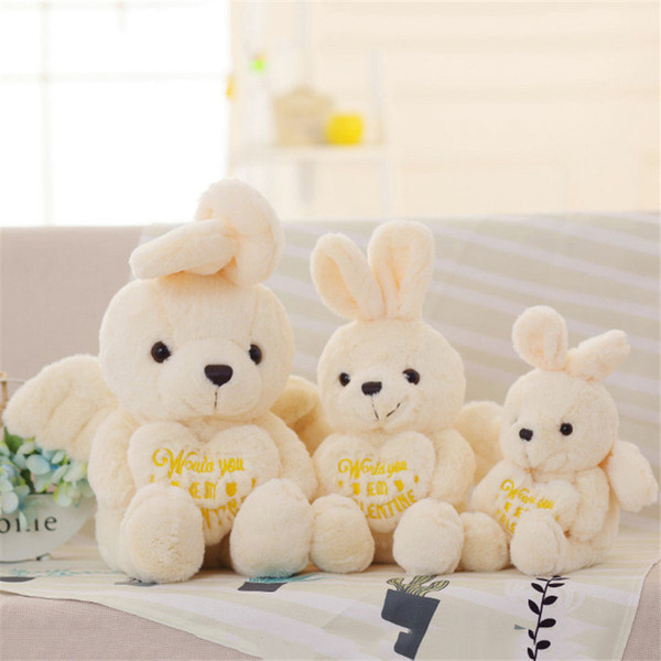 Plush Soft Dolls Lovely Angel Rabbit Stuffed Animal Pillow Kid Toy Home Decoration Doll Girlfriend Birthday Wedding Gifts