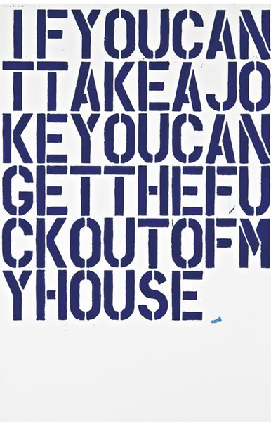 best selling Christopher Wool Art Works If You Can Take A Jokey Home Decor Art Poster Print 16 24 36 47 inches
