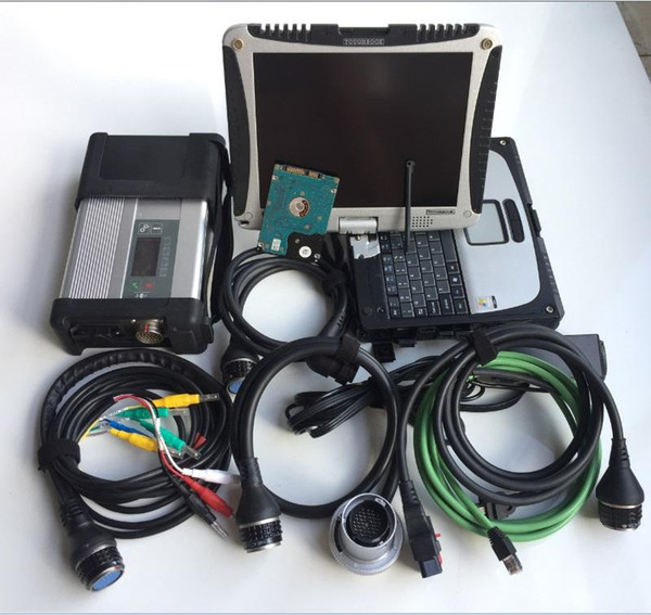 for mb star diagnosis c5 with cf19 Laptop Toughbook Diagnostic PC hdd 320gb for cars trucks scanner ready to work