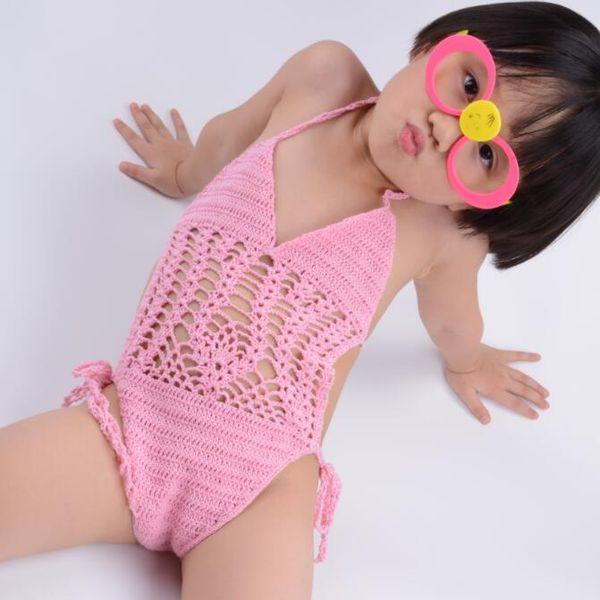 Compre Nuevo Traje De Baño De Ganchillo De Una Pieza Crochet ...