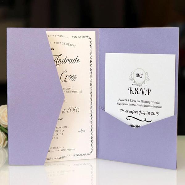 Compre Augkun Tarjetas De Invitación De Boda Simples Tarjetas De Felicitación Elegantes Para La Boda Fiesta De Cumpleaños Decoración Tarjetas De