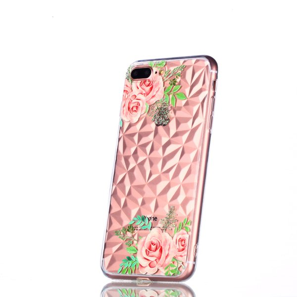 Phone Case 6 6S 7 8 Plus X 3D Relief Flower Flamingo Leaf Cat Dog For iPhone