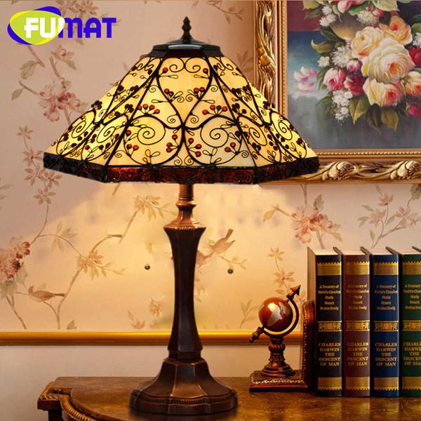 Acquista Vendita All\'ingrosso Lampada Da Tavolo Vintage Lampada Artigianale  In Vetro Colorato Paralume Camera Da Letto Comodino Lampada Lustre ...