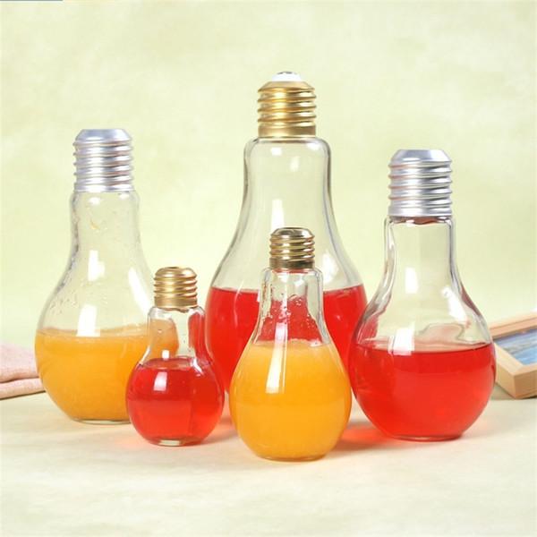 Оригинальность форма лампы бутылка воды фруктовый сок напитки кружка высокое качество стекла герметичность Кубок с крышкой лето сидячие многоразовые 1de5 jj