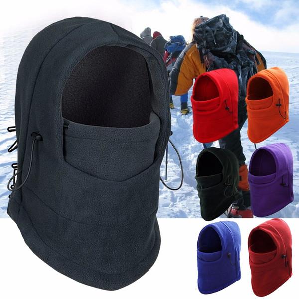 Outdoor Balaclavas Sports Headgear Neck Warm Scarf Fleece Hat Tactical CS Mask Black Face Mask Ski Snowboard Hood Windproof