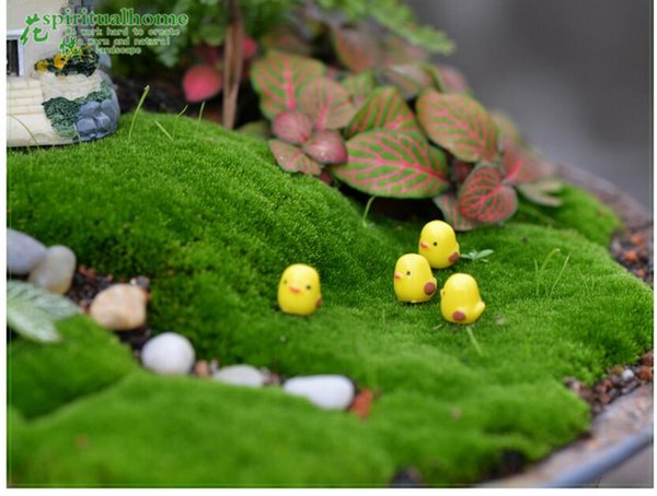 Wholesale Miniature Garden Decoration Cute Mini Yellow Chicks For Fairy Garden Miniatures Diy Succulent Accessories Figurines Free Shipping