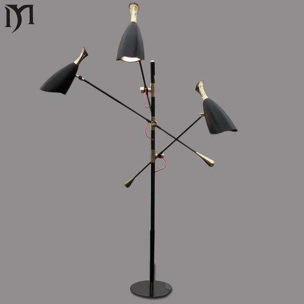duke floor lamp Nordic modern creative oblique floor stand Lamp 3 heads aluminum restaurant led light hotel,bar