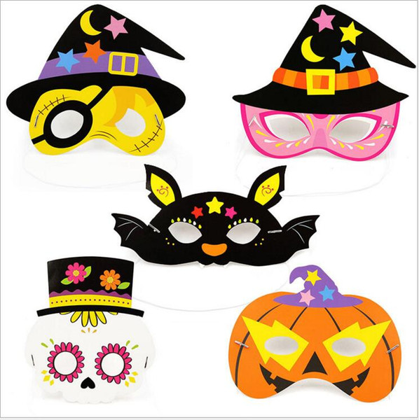 Party Masks Halloween Boys Girls Birthday Party Decoration Kids Face Masquerade Mask Decor Costume Dress Up Mask Free Shipping