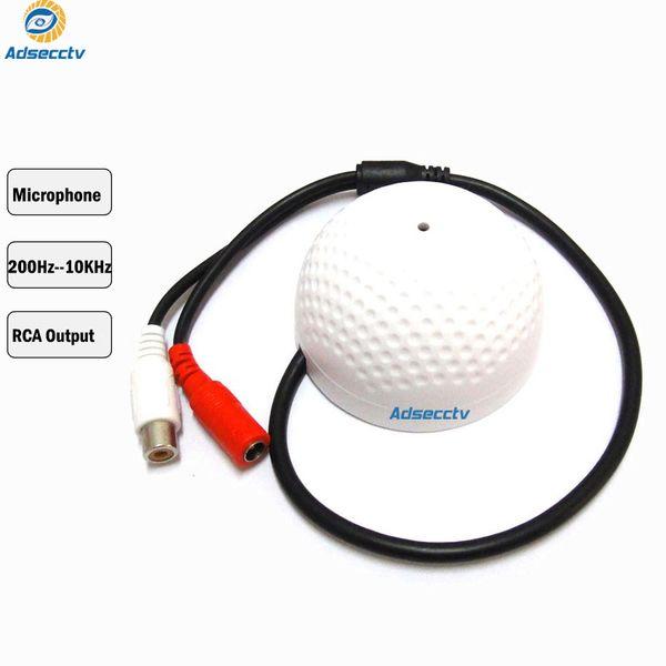 Microfono per telecamera CCTV per CCTV Accessorio di sorveglianza Wide Range Sound Pickup Uscita audio RCA Monitor per telecamera di sicurezza AH-AM03