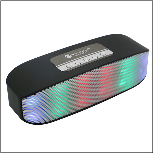 Creative pulse colorful LED lights portable wireless Bluetooth speaker subwoofer stereo microphone hands-free card mobile phone gift