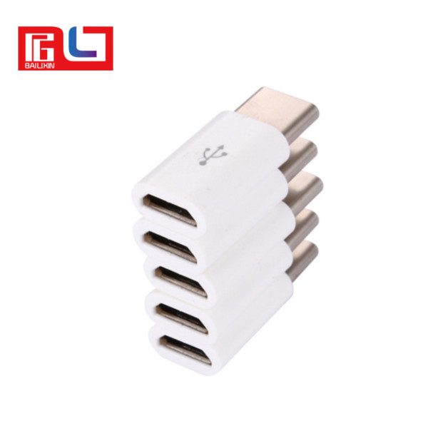 High quality pocket friendly size autocatalytic plating ABS micro USB 3.1 Type-C fast data sync transferring charger adapter