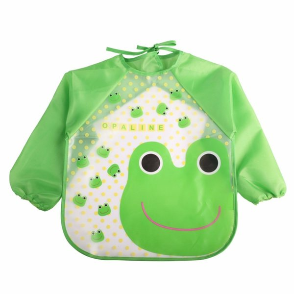 2018 New Children Bib Burp Baby Todders Waterproof Long Sleeve Art Smock Bibs Apron Cartoon Soft Feeding baberos bavoir Clothing