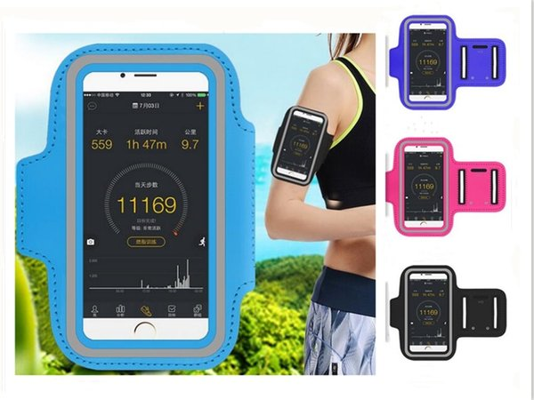 Sport Armband Arm Band Belt Cover mobile phone Gym Running Sport Arm Band Cover Case For BQ BQS-5040 Force Phone Cases 5.0""