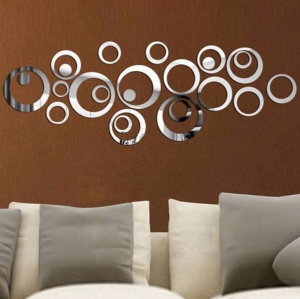 Circles Stickers Vinyl Art Mural Wall Sticker Room Decoration Sofa TV Background Home Wall Decor DIY