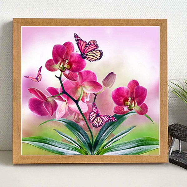 Lan New Product Magic Cube Diamonds Full Bore Restaurant Decoration Painting Butterfly Love Flower Cross Embroidery Distribution
