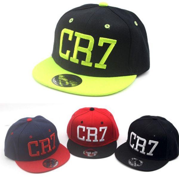 Summer Children CR7 Baseball Cap Ronaldo Hat Boys Girls Football Snapback Hats Kids Sports Hip Hop Caps Casquette Cheap