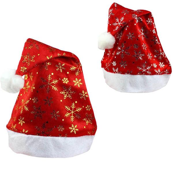 New Christmas Holiday Xmas Cap For Santa Claus Gifts Nonwoven Christmas Hat New Year 2019 Navidad # YS