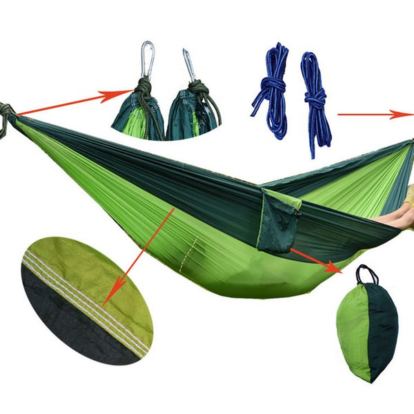 Groovy Two Person Hammock Lightweight Portable Camping Hammock Double Person Hammock For Indoor Outdoor Hiking Camping Outdoor Lounges Heavy Duty Folding Creativecarmelina Interior Chair Design Creativecarmelinacom