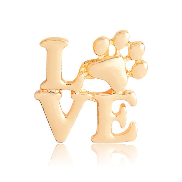 Wholesale Gold Silver Love Letter Claw Brooch Pin Gift Brooch Gift Pin Colorful Snail Brooches Pins Jewelry Brooches for Men Women