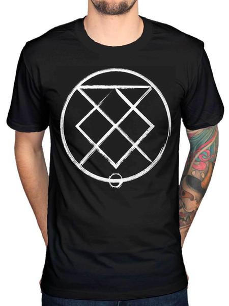 Official Bury Amanhã Runes Camiseta Metal Rock Indie Portraits União De Coroas Novidade Legal Tops Homens Camisa de Manga Curta T