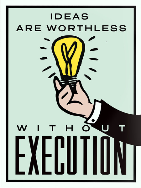 """top popular Unframed Alec Monopoly """"Ideas vs Execution"""",HD Canvas Print home decor wall art painting,office art culture 2021"""