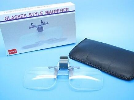 Folding Magnifying Glass Clip On Precise Magnifier Flip Loupe Handsfree Eyeglass