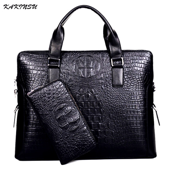 best selling KAKINSU Men Messenger Bags Genuine Leather Bag Men Briefcase Designer Handbags High Quality Famous Brand Business Men Bag