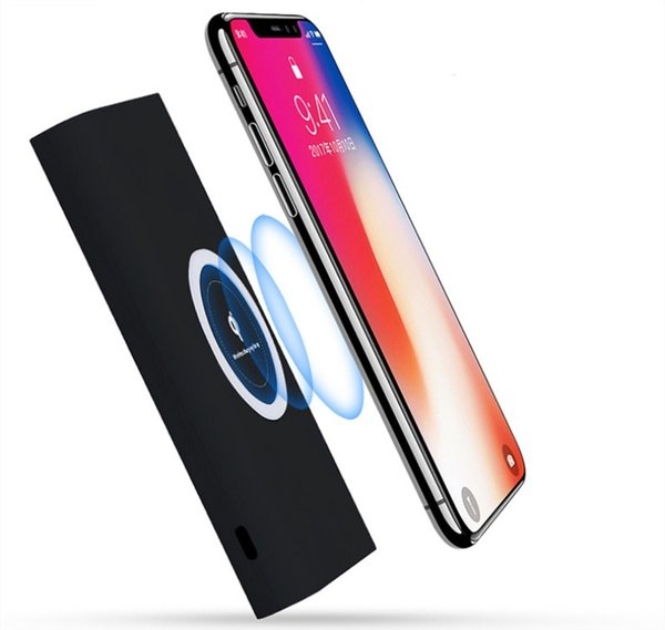 10000mAh Actual Capacity 8000mAh Power Bank Qi Wireless Charger External Battery Pack Charging Pad for iPhone X 8 Plus Samsung Note 8 S8 S7