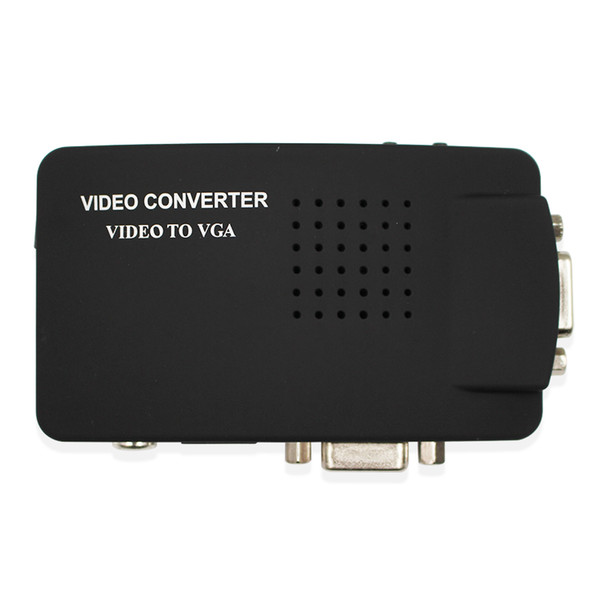 Video S-Video VGA To VGA Converter Adapter cable CRT/LCD monitor switch box For CCTV Camera DVD DVR PC