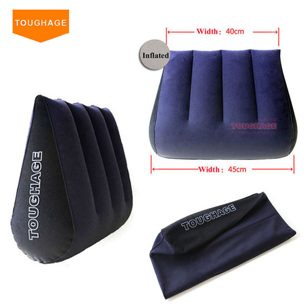 Toughage Inflatable Sex Pillow Positions Adult Sex Sofa Bed Cushion Triangle Wedge Pad Sofa Toys Sex furniture Hold Pillow