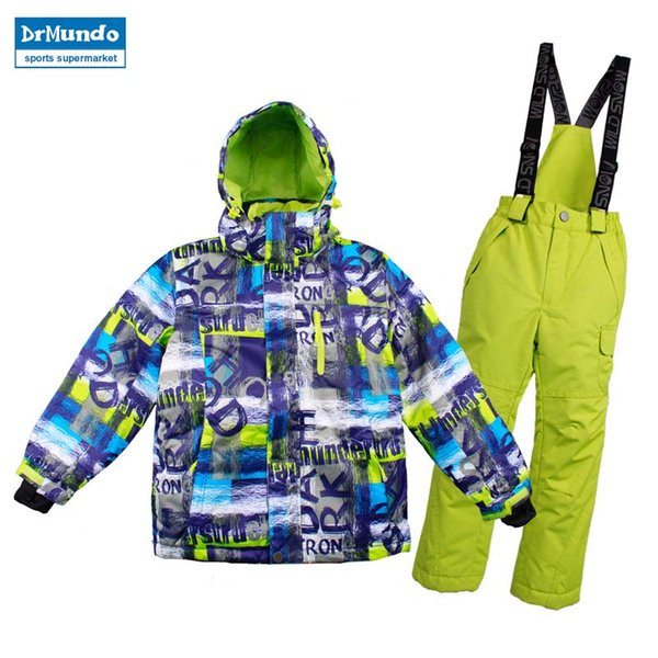 Boys Girls Ski Suits Winter Kids Child Ski Clothing Set Warm Waterproof Children Skiing Snowboarding Jackets And Pants