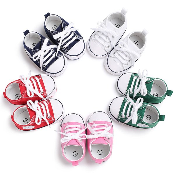 New Baby Shoes Breathable Canvas 1-3 Years Old Boys Shoes 5 Color Comfortable Girls Baby Sneakers Kids Toddler Shoes
