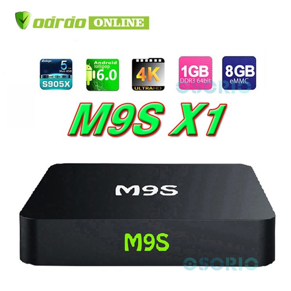 M9S X1 Android 6.0 TV BOX Smart Mini PC Amlogic S905X Quad Core H.265 Media Player 2.4GHz Wifi HDMI 2.0A Game 1080P Home Theater