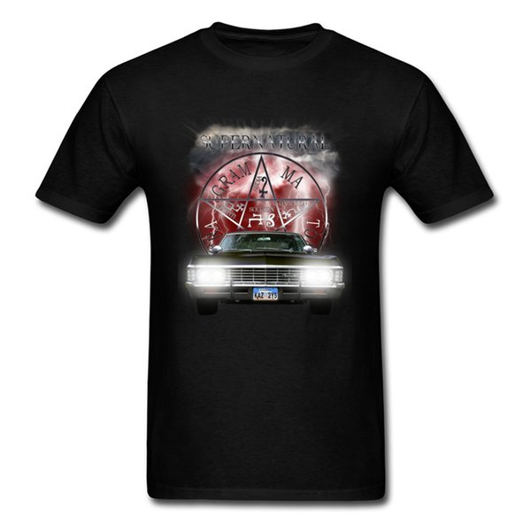 Free Shipping High Quality Brands Tee-Shirt Supernatural Theme Car T Shirts Men Vintage Funny Team Tshirt Best Gift For Friend