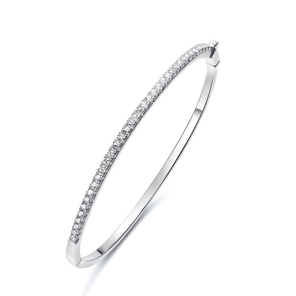 nice cheap hot product novel design The New S925 Sterling Silver Bracelet Is Decorated With SWAROVSKI Crystal  Inlaid Hand. White Gold Diamond Bangle Bracelet Gold Filled Bangles From ...