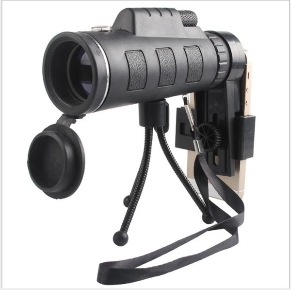 Outdoor mobile field portable 40X60 mobile phone photo low light night vision single tube high power green film telescope