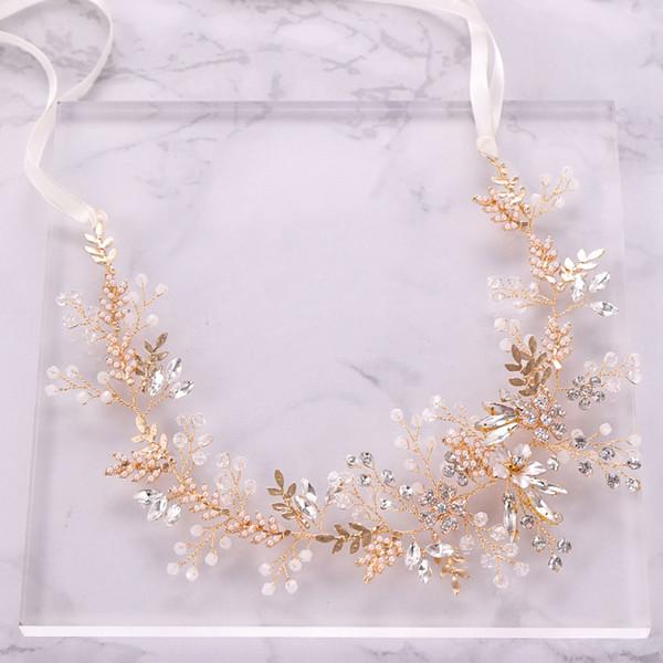 Venta caliente nupcial diadema 2019 recién deslumbrante con cuentas cristales joyería del pelo de la boda partido de las mujeres accesorios para el cabello T12