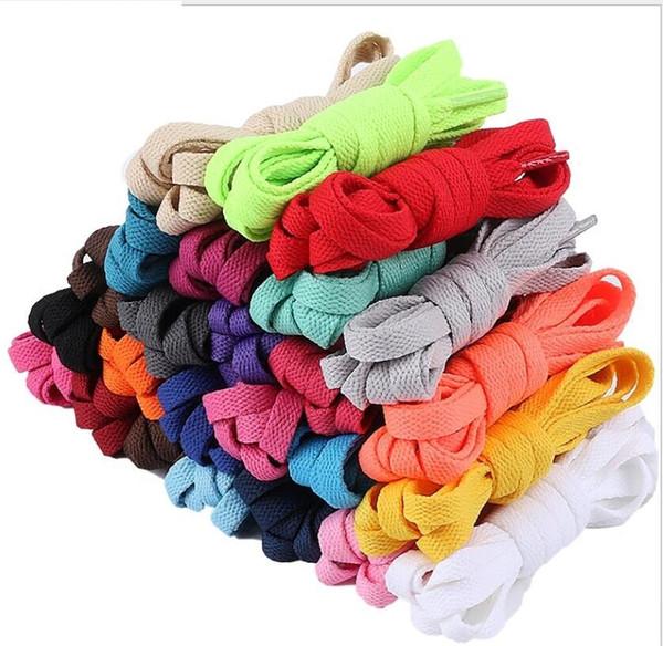 Ayakkabı Aksesuar Ayakkabı bağcıklı ayakkabı bağcıkları satışa birçok renk Karışımı sipariş kaliteli Doğrudan satış mutil-renkler ve boyut