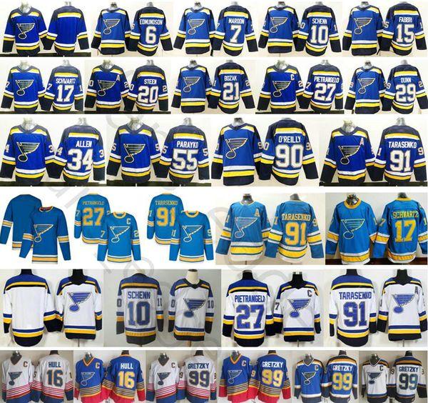 2019 New St. Louis Blues 27 Alex Pietrangelo 10 Brayden Schenn Jaden Schwartz Steen Jake Allen 7 Patrick Maroon 91 Vladimir Tarasenko Jersey