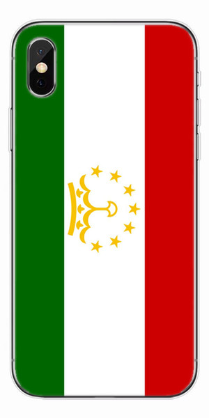 [TongTrade] Soft Silicone TPU Cover Case For iPhone X 8 7 6s 5s Plus Tajikistan Flag Coloured Painting Galaxy S9 S8 S7 S6 Edge Plus Case