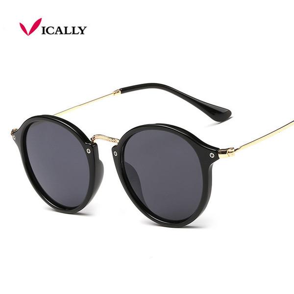 2017 Retro Male Round Sunglasses Women Men Brand Designer Sun Glasses for Women Alloy Mirror Sunglasses Ray Ladies Oculos De Sol